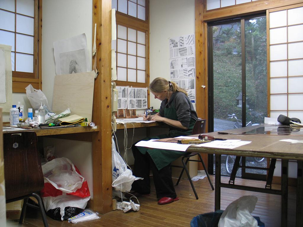 Katrin bei der Arbeit Itsukaichi