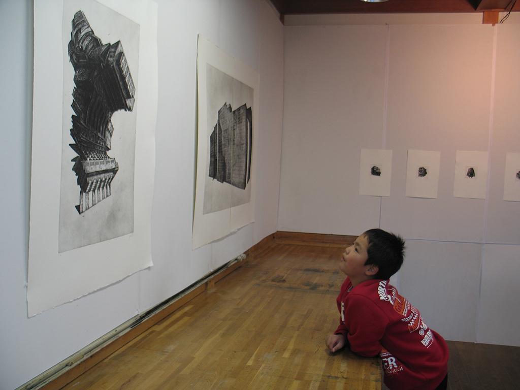 Ausstellung Itsukaichi, kleiner Fan