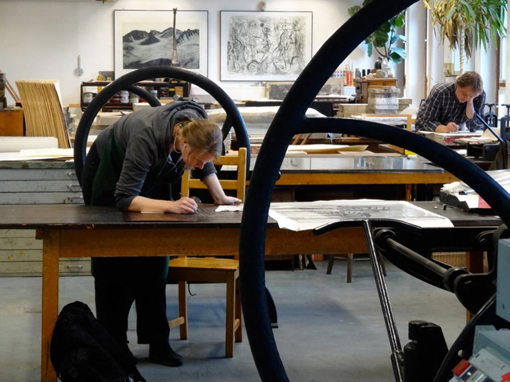 Bei der Arbeit Katrin Graalmann