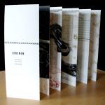 Künstlerbuch Leporello, aufgestellt
