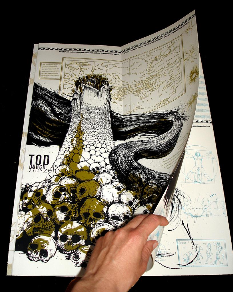 Künstlerbuch Sirenen, aufgeschlagen